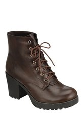 Refresh Club Lace Up Bootie Brown