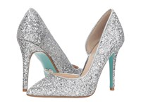 Blue By Betsey Johnson Sally Silver High Heels