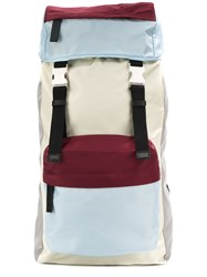 Marni Colour Block Backpack White