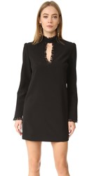 Wayf Make Your Mark Lace Inset Dress Black