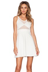 Oh My Love Mesh Front Skater Dress White
