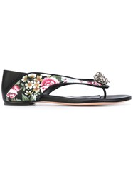 Alexander Mcqueen Skull Embellished Sandals Women Leather 38.5 Black