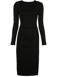 Christian Siriano Fitted Ruched Midi Dress 60