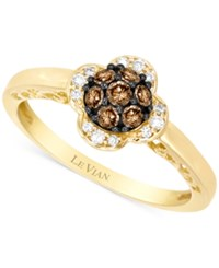Le Vian Chocolatier Diamond Floral Inspired Ring 1 3 Ct. T.W. In 14K Gold