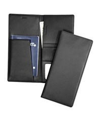 Royce Rfid Blocking Leather Passport Ticket Organizer Black