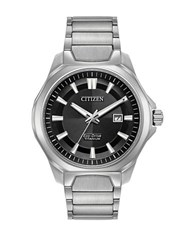 Citizen Ti Ip Eco Drive Titanium Analog Bracelet Watch Silver