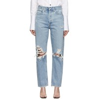 Agolde Blue Loose Fit Mid Rise 90'S Jeans