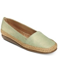 Aerosoles Solitaire Espadrille Flats Women's Shoes Light Green Combo