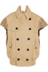 Sacai Shell Paneled Cotton Jacket Beige