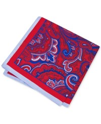 Club Room Men's Paisley Pocket Square Only At Macy's Red