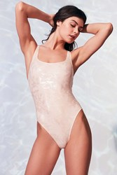 Out From Under Zola Shimmer Shell One Piece Swimsuit Beige