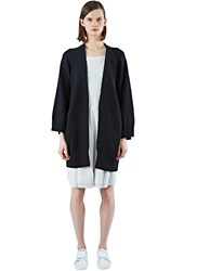 Acne Studios Sonya Oversized Wool Knit Cardigan Black