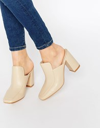 Truffle Collection Harp Heeled Mules Beige