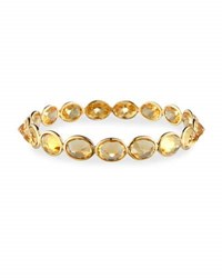 Piranesi Citrine Bangle Bracelet In 18K Yellow Gold