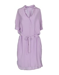 Barba Napoli Short Dresses Lilac