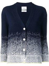 Barrie Gradient Effect Cardigan Blue