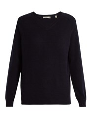 Vince Raglan Sleeved Cashmere Sweater Navy