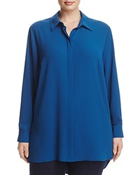 Vince Camuto Plus Button Down Tunic Port Blue