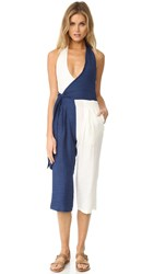 Solid And Striped The Camille Jumpsuit Navy Cream