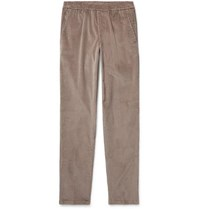 Thom Sweeney Taupe Slim Fit Cotton Corduroy Suit Trousers Taupe