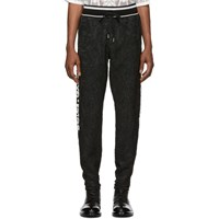 Dolce And Gabbana Black Jacquard Lounge Pants