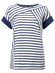 Gerry Weber Stripe Jersey Top Blue White