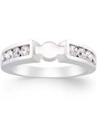 Macy's Create Your Ring Diamond Channel Set Ring Base 5 8 Ct. T.W. In 14K White Gold No Color