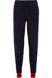 Chinti And Parker Cherry Intarsia Cashmere Track Pants Navy Usd
