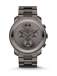 Movado Bold Gunmetal Grey Ip Stainless Steel Chronograph Bracelet Watch