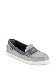 Cole Haan Two Tone Penny Loafers Slate
