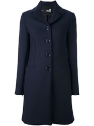 Love Moschino Single Breasted Coat Blue