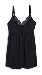 Ingrid And Isabel Maternity Lace Trim Sleep Cami Black