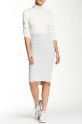 Romeo And Juliet Couture Zipper Pencil Skirt Gray