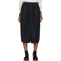 Comme Des Garcons Girl Navy Gathered Trousers