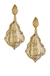 Amrita Singh Textured Crystal Earrings Metallic