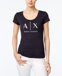 Armani Exchange Logo Graphic T Shirt Solid Black