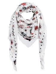Alexander Mcqueen Tattoo Printed Scarf
