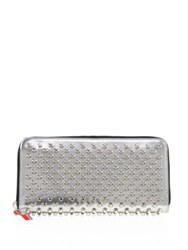 Christian Louboutin Panettone Leather Wallet Silver
