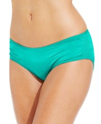Coco Reef Ruched Hipster Bikini Bottoms Women's Swimsuit Aqua Breeze
