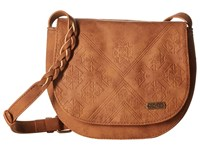 Roxy Material Love Camel Cross Body Handbags Tan