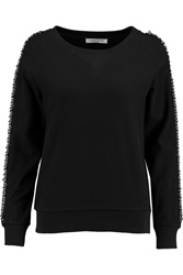 Balmain Chain Embellished Cotton Pique Sweatshirt