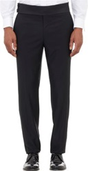 Faconnable Wool Tuxedo Trousers Black