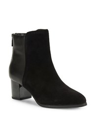 Bandolino Planta Leather And Suede Ankle Boots Black