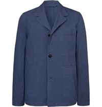 Paul Smith Ps By Cotton Twill Shirt Jacket Blue