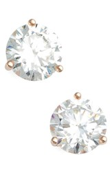 Nordstrom Women's Precious Metal Plated 3Ct Tw Cubic Zirconia Earrings Rose Gold