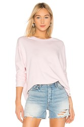 Frank And Eileen Oversized Continuous Sleeve Sweatshirt Pink