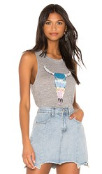 Chaser Triblend New Mexico Tank In Gray. Streaky Grey