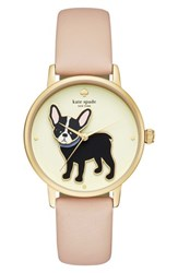 Kate Spade New York Grand Metro Antoine Leather Strap Watch 38Mm Nude Cream Gold