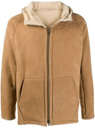 Salvatore Santoro Shearling Lined Jacket Neutrals