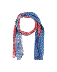Stefanel Scarves Blue